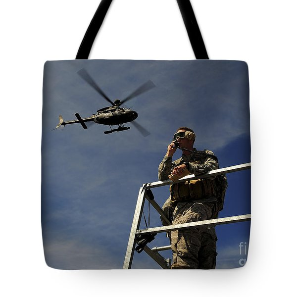 A Joint Terminal Attack Controller Tote Bag by Stocktrek Images