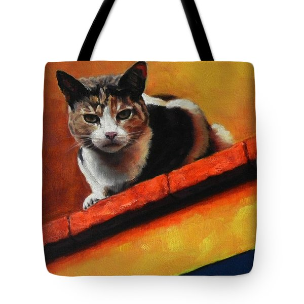 A Top Cat In The Shadow, Peru Impression Tote Bag