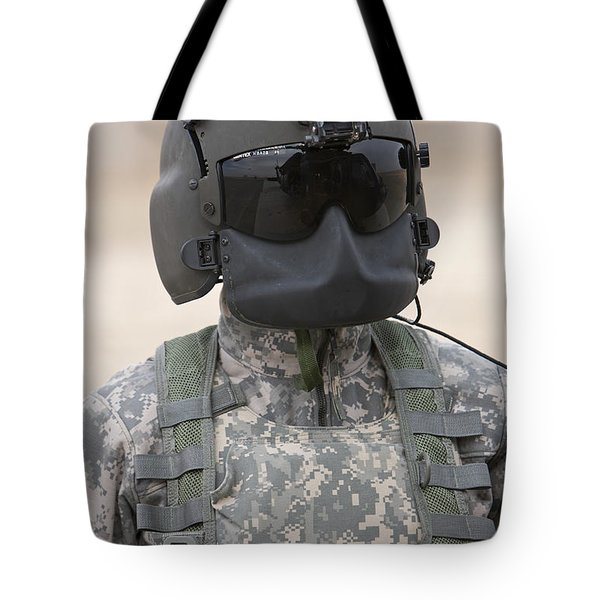 A Uh-60 Black Hawk Helicopter Crew Tote Bag by Terry Moore