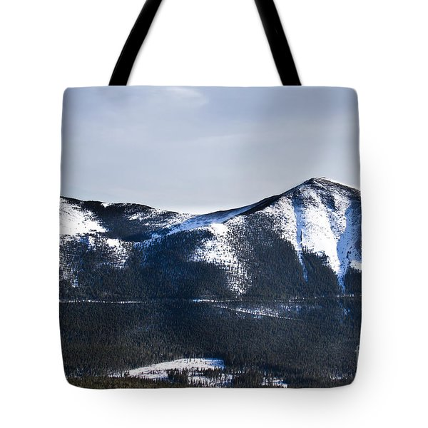 A View Of Snowy Mountains From Pikes Peak Tote Bag by Ellie Teramoto