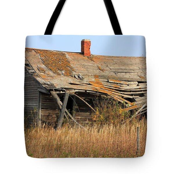 Abandoned Alberta Prairie Home Tote Bag by Jim Sauchyn