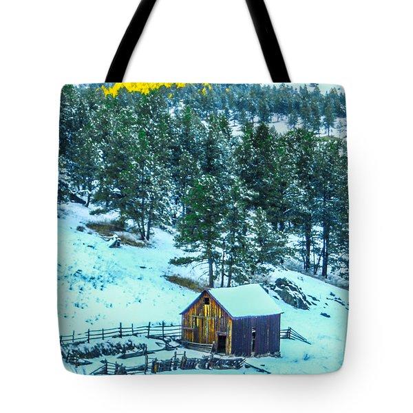 Abandoned Barn Lll Tote Bag by Shannon Harrington