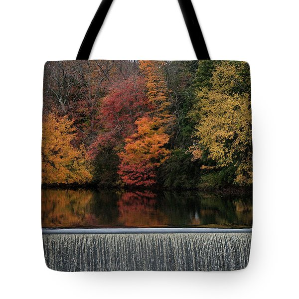 Above The Dam Tote Bag