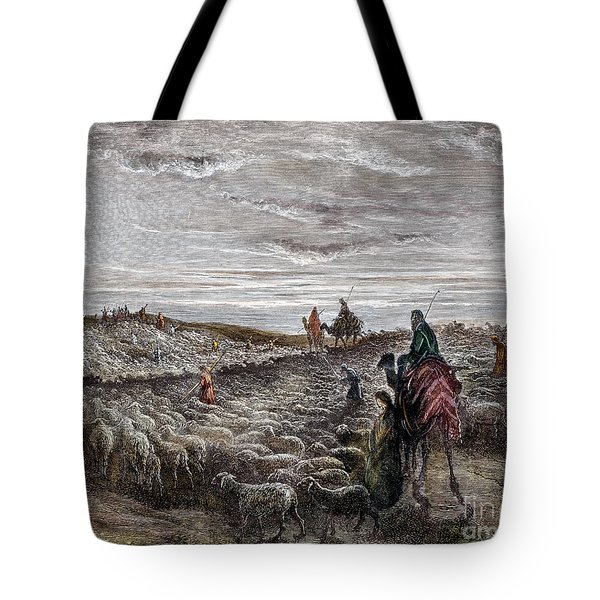 Abraham Entering Canaan Tote Bag by Granger