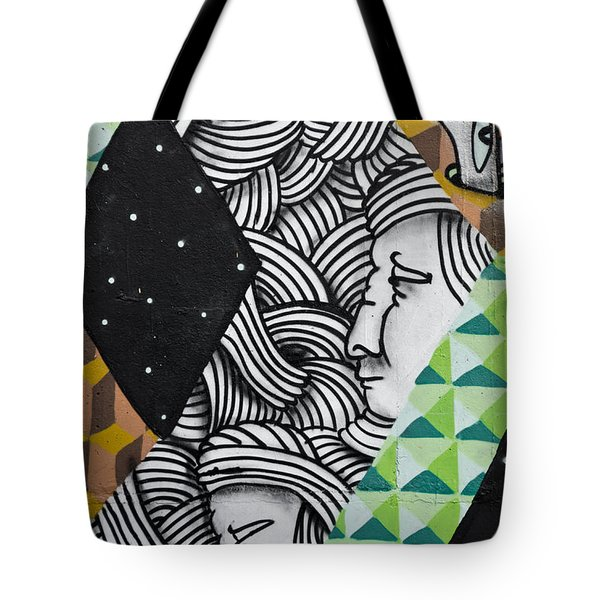 Tote Bag featuring the painting Abstract Colorful Graffiti by Yurix Sardinelly