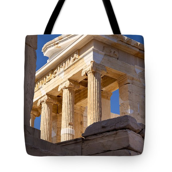 Acropolis Temple Tote Bag by Brian Jannsen