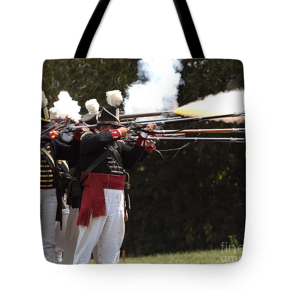 Tote Bag featuring the photograph American Firing Line by JT Lewis