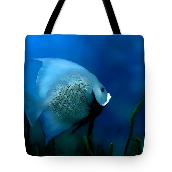 Tote Bag featuring the digital art Angelfish by John Pangia