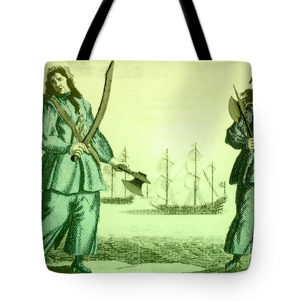 Anne Bonny And Mary Read, 18th Century Tote Bag by Photo Researchers