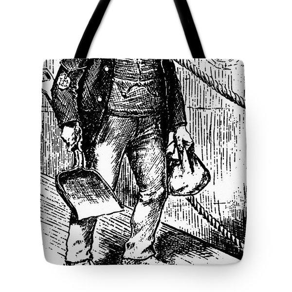 Anti-immigrant Cartoon Tote Bag by Granger
