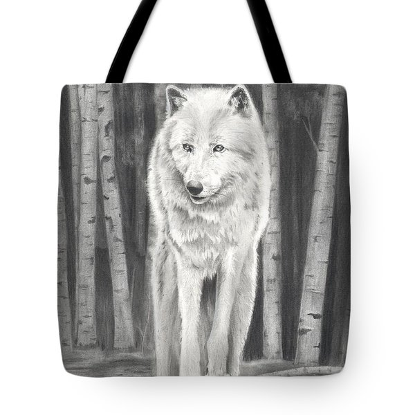 Arctic Wolf Tote Bag by Christian Conner