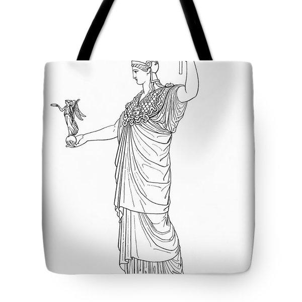 Athena, Greek Goddess Tote Bag by Photo Researchers