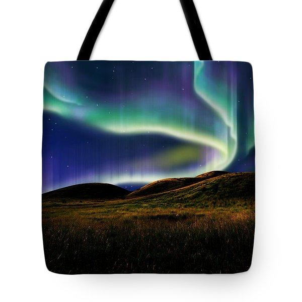 Aurora On Field Tote Bag