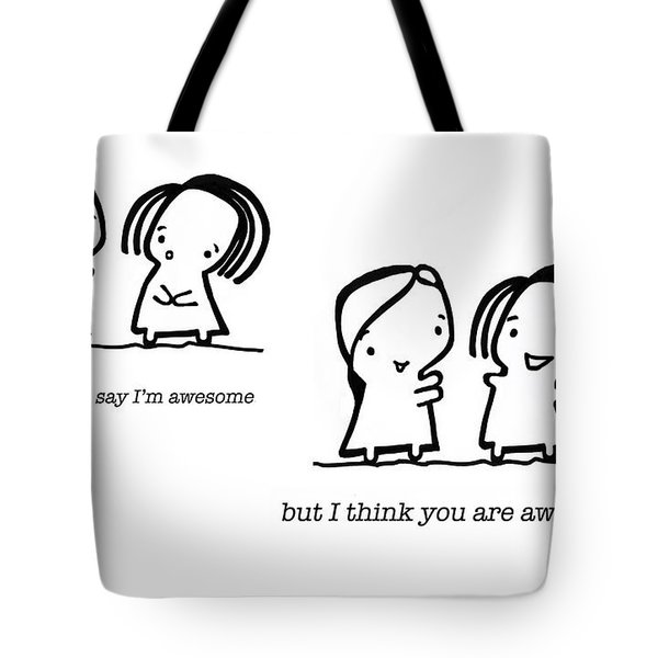Awesomer Tote Bag by Leanne Wilkes