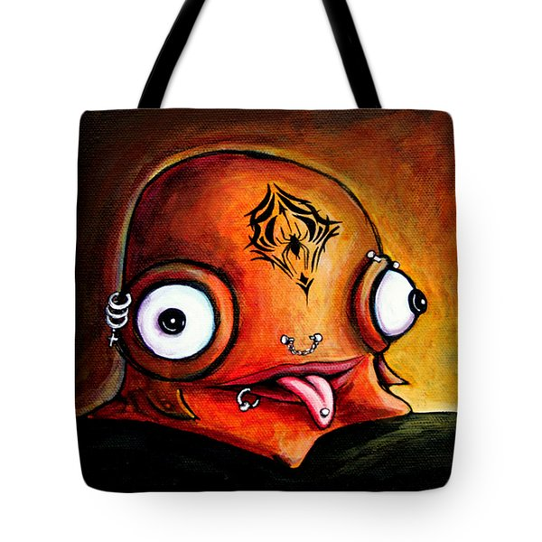 Tote Bag featuring the painting Bad Boy Glob by Leanne Wilkes