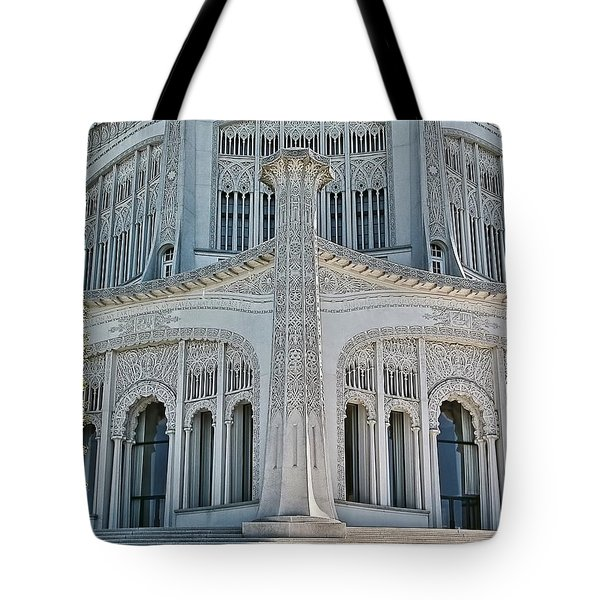 Bahai Temple Wilmette Tote Bag by Rudy Umans