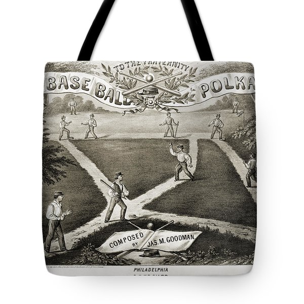 Baseball Polka, 1867 Tote Bag by Granger