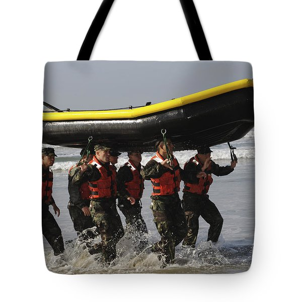 Basic Underwater Demolitionseal Tote Bag by Stocktrek Images