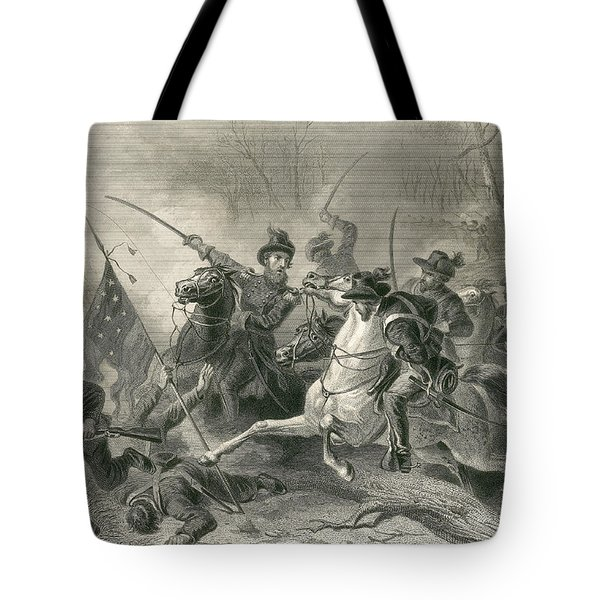 Battle Of Shiloh, Charge Of General Tote Bag by Photo Researchers