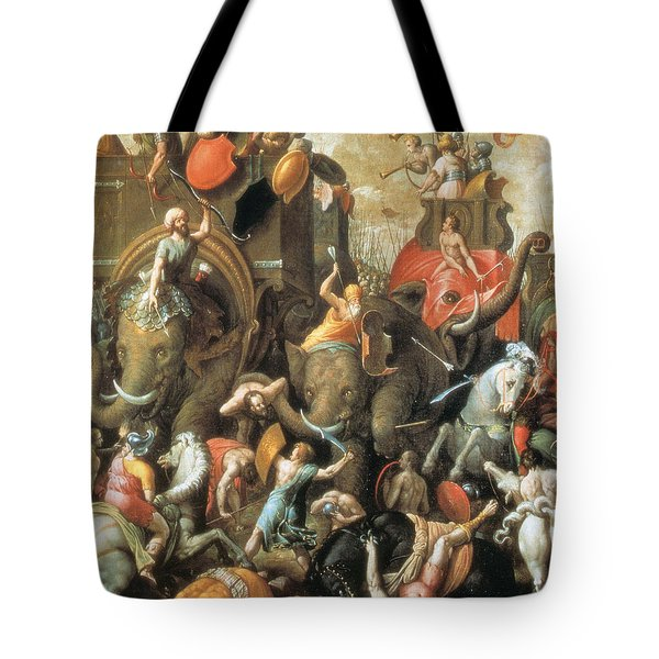Battle Of Zama Hannibals Defeat Tote Bag by Photo Researchers
