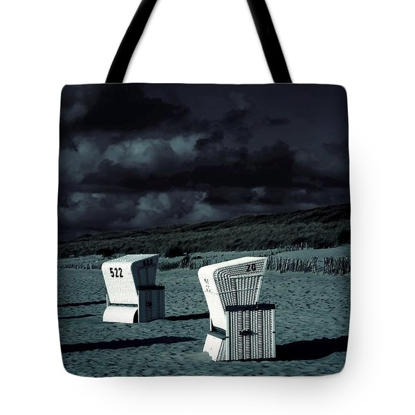 Beach Chairs Tote Bag by Joana Kruse
