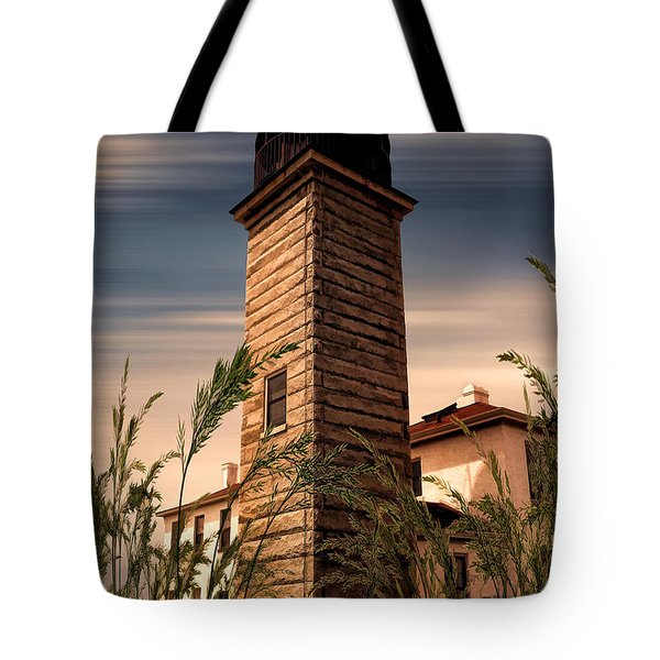 Beavertail Lighthouse Tote Bag by Lourry Legarde