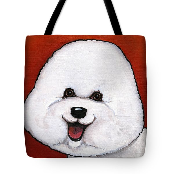 Bichon Frieze Tote Bag by Leanne Wilkes