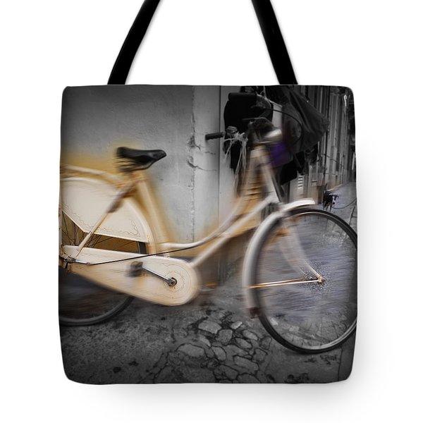 Bike Tote Bag by Charles Stuart