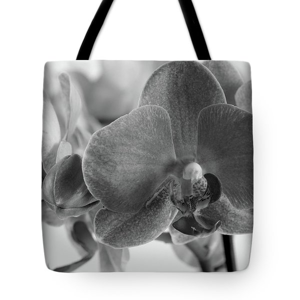 Black And White Orchid Tote Bag