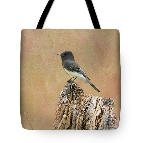 Black Phoebe Tote Bag by Betty LaRue