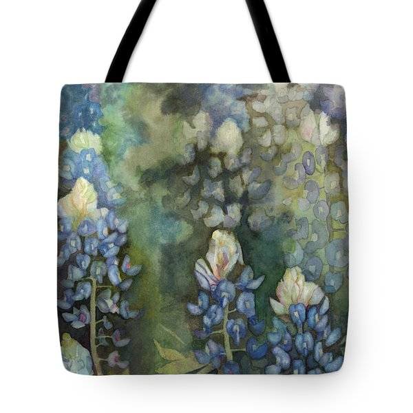 Tote Bag featuring the painting Bluebonnet Blessing by Karen Kennedy Chatham