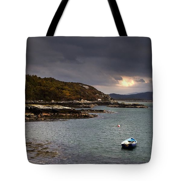 Tote Bag featuring the photograph Boat In Water, Loch Sunart, Scotland by John Short