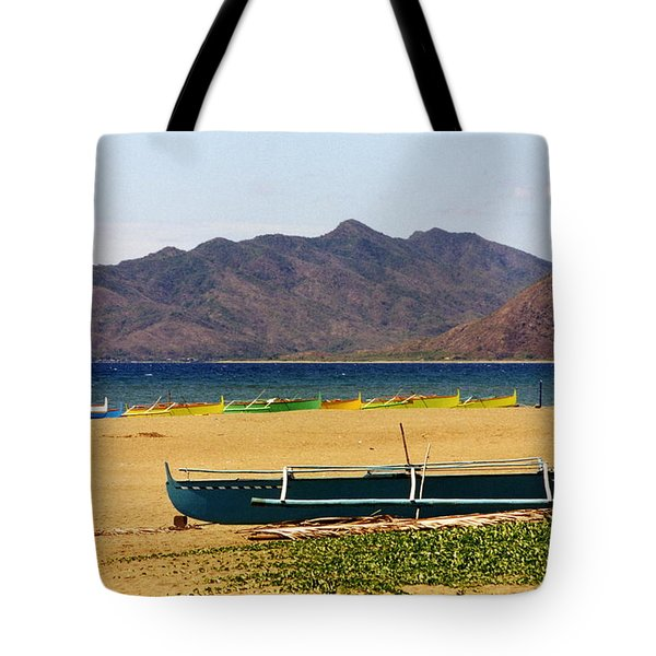 Boats On South China Sea Beach Tote Bag