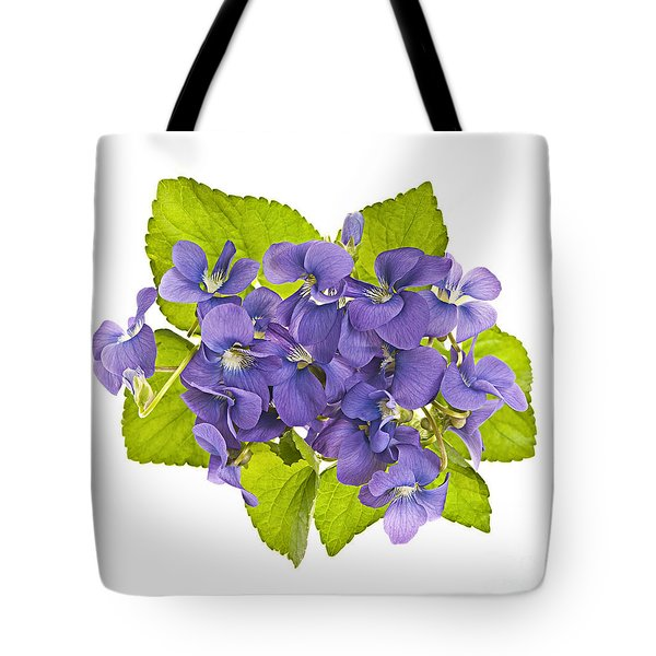 Bouquet Of Violets Tote Bag by Elena Elisseeva
