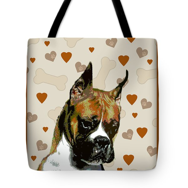 Boxer Tote Bag by One Rude Dawg Orcutt