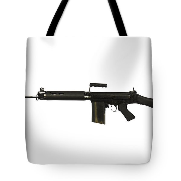 British L1a1 Self-loading Rifle Tote Bag by Andrew Chittock
