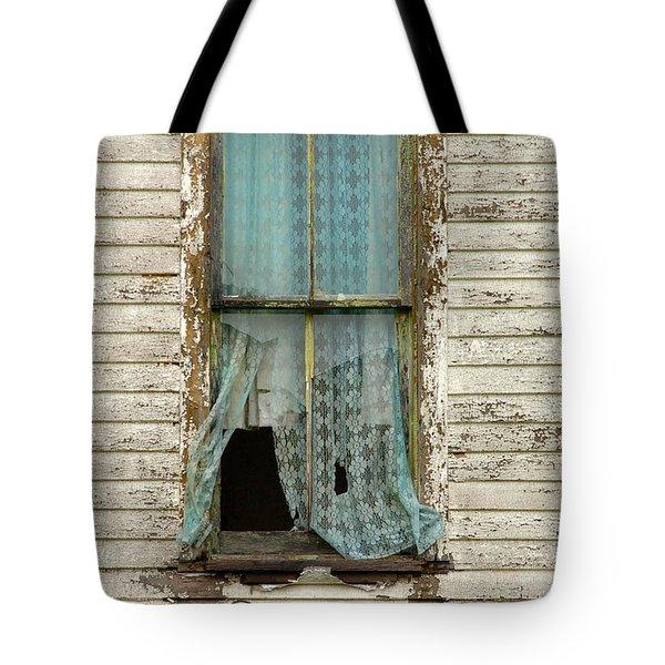 Broken Window In Abandoned House Tote Bag by Jill Battaglia