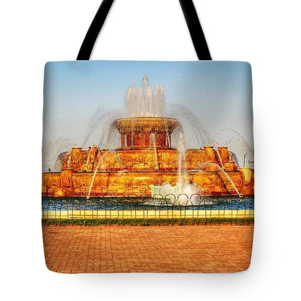 Buckingham Fountain Tote Bag by Dan Stone