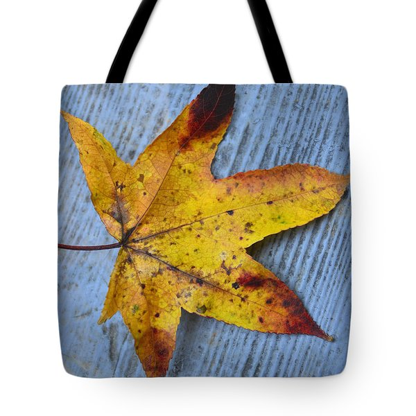 Burnished Gold On Wood Tote Bag by Sandi OReilly