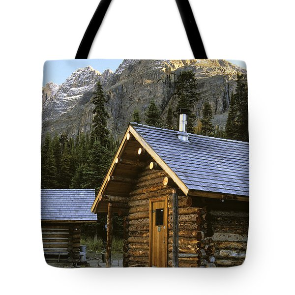 Cabin In Yoho National Park, Lake Tote Bag by Ron Watts
