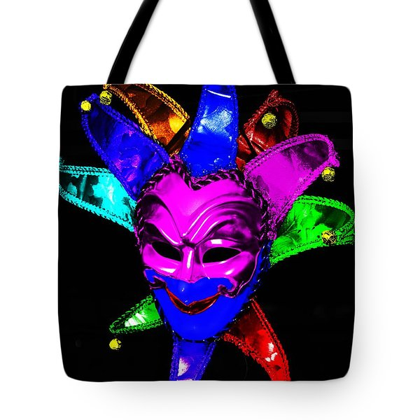 Tote Bag featuring the digital art Carnival Mask by Blair Stuart