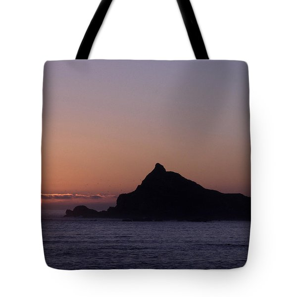 Tote Bag featuring the photograph Castle Rock Sunset by Betty Depee