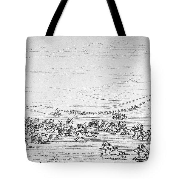 Catlin: Buffalo Hunt Tote Bag by Granger