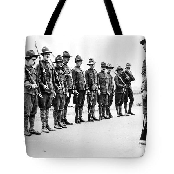 Chaplin: Shoulder Arms Tote Bag by Granger