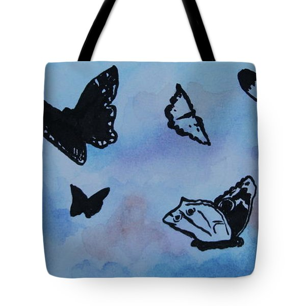 Chasing Butterflies Tote Bag by Jan Bennicoff
