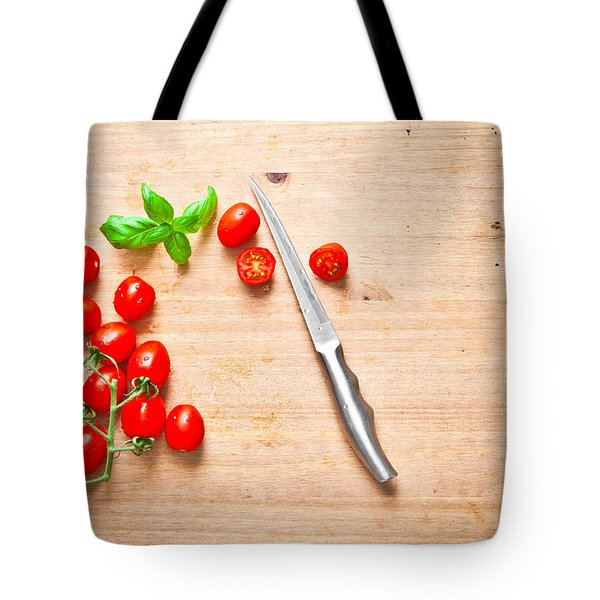 Cherry Tomatoes Tote Bag by Tom Gowanlock