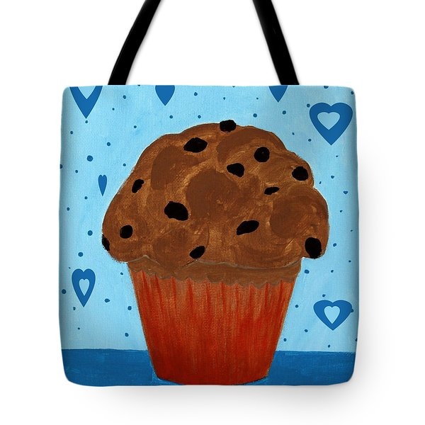 Chocolate Chip Cupcake Tote Bag by Barbara Griffin