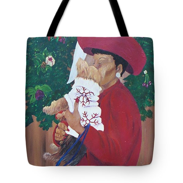 Christmas Lioness Tote Bag