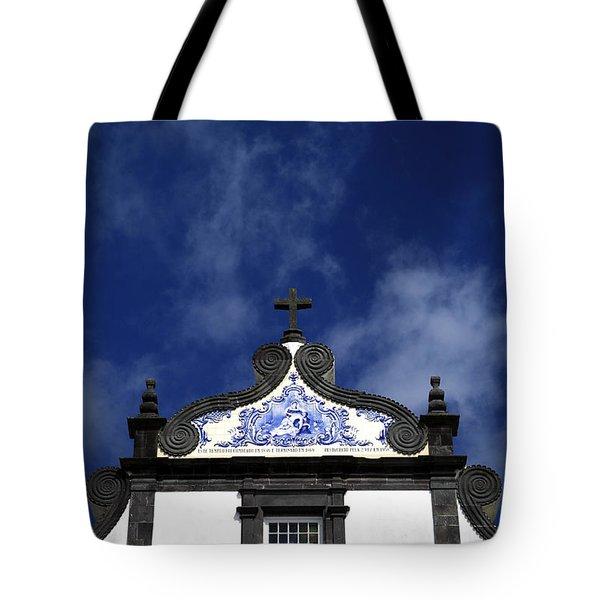 Church In Azores Islands Tote Bag by Gaspar Avila
