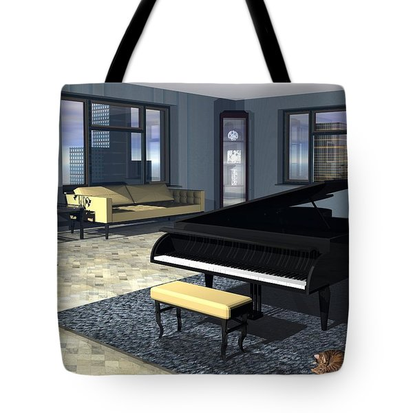 Tote Bag featuring the digital art City Loft by John Pangia